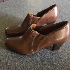 Brown Leather Franco Sarto Booties
